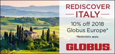 Globus Italy Sep25-Oct8 Promo