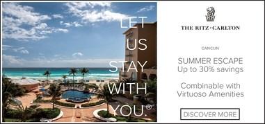 RitzCarltonCancun Caribbean Jun17-Jun30 Promo