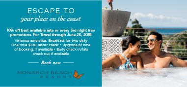 MonarchBeach NorthAmerica Apr9-Apr22 Promo
